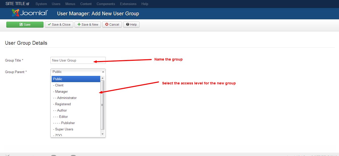 add user group 1