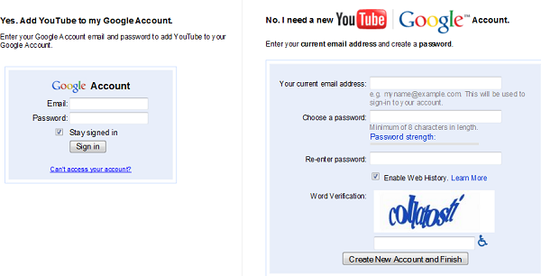 YouTube | Google Account Sync